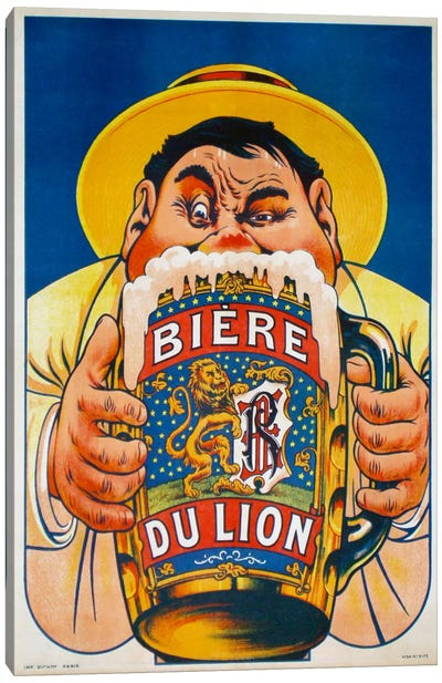 Biere du Lion Canvas Art Print