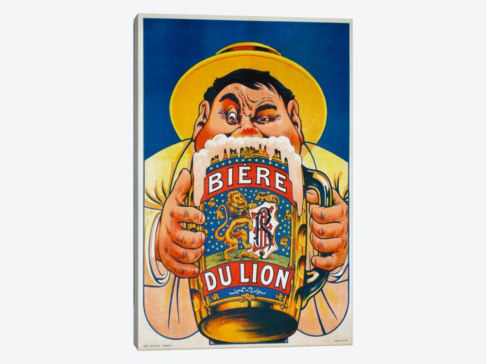 Biere du Lion by Vintage Apple Collection 1-piece Canvas Print
