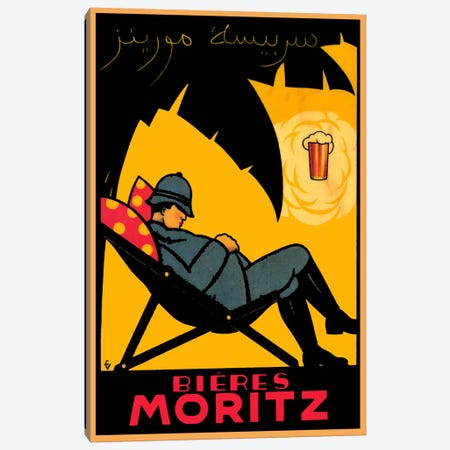 Bieres Moritz Canvas Print #VAC747} by Vintage Apple Collection Canvas Art Print