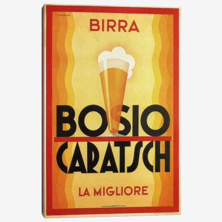 Birra Bosio Canvas Print #VAC748} by Vintage Apple Collection Canvas Wall Art