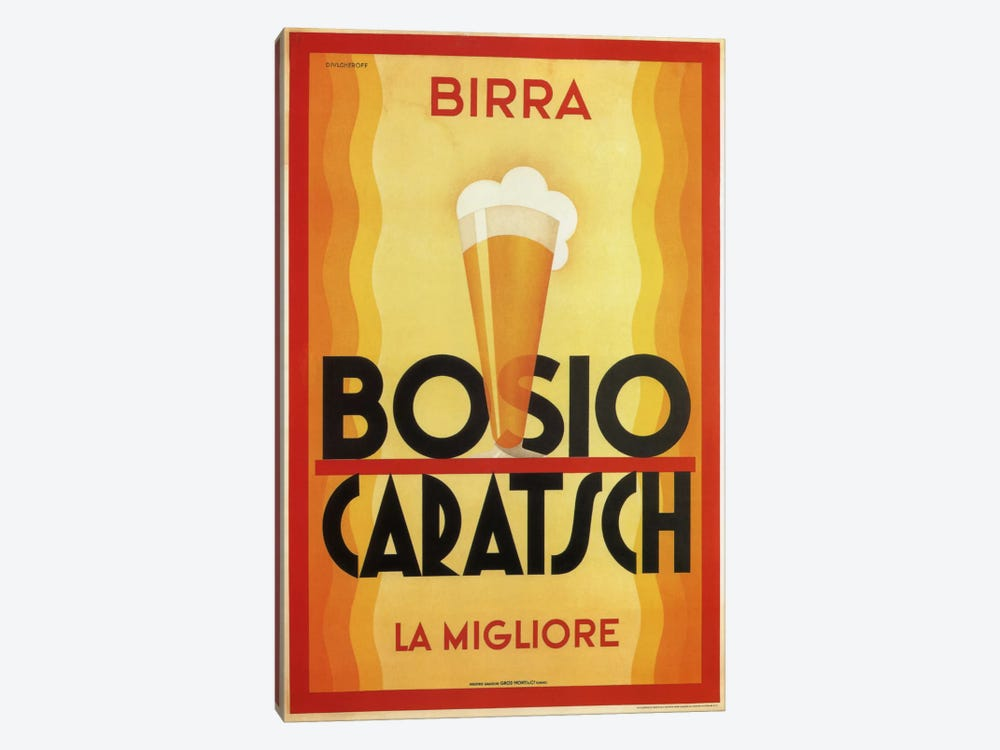 Birra Bosio by Vintage Apple Collection 1-piece Canvas Art Print
