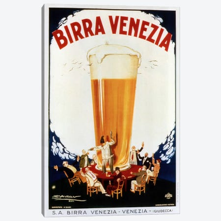 Birra Venezia Canvas Print #VAC749} by Vintage Apple Collection Canvas Wall Art