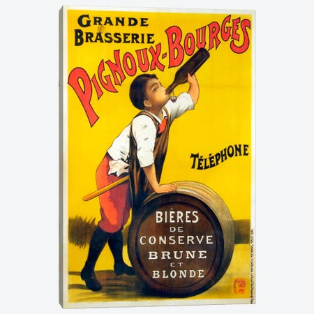 Pignoux Bourges Canvas Print #VAC769} by Vintage Apple Collection Canvas Artwork