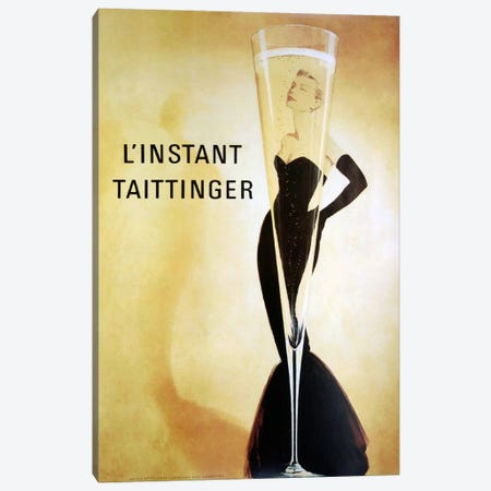 L'Instant Taittinger Canvas Print #VAC773} by Vintage Apple Collection Canvas Print