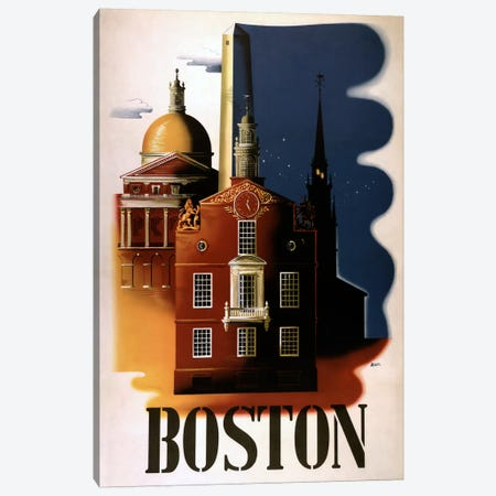 Boston Architecture Canvas Print #VAC776} by Vintage Apple Collection Canvas Art