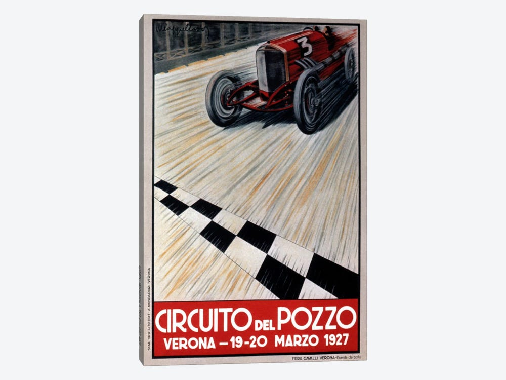 Circuit del Pozzo Italy by Vintage Apple Collection 1-piece Art Print