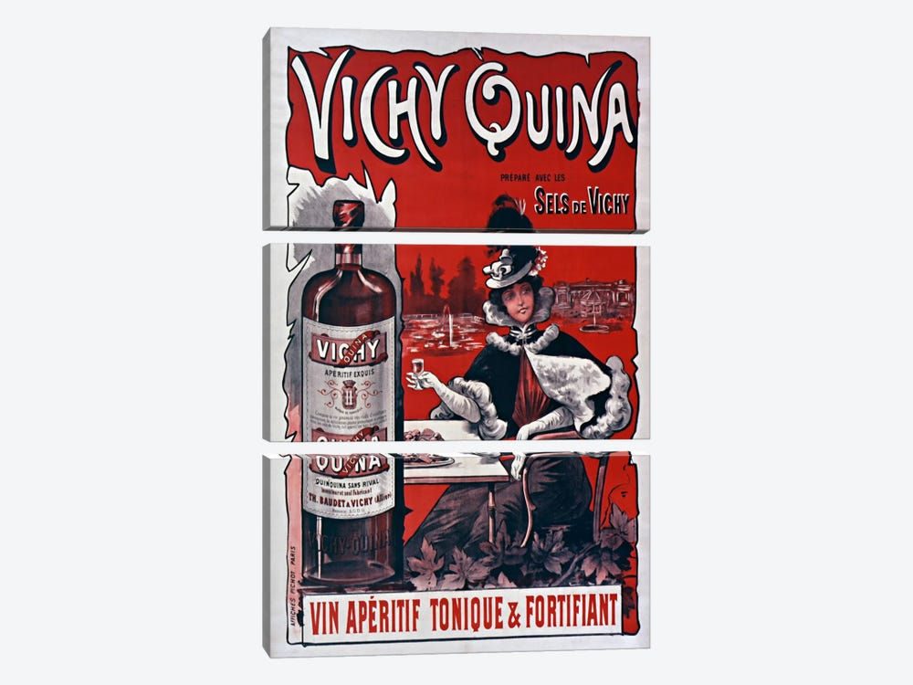 Vichy Quina by Vintage Apple Collection 3-piece Canvas Print