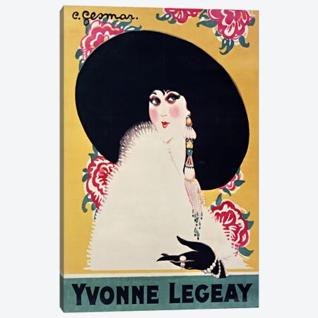 Yvonne Legeay Canvas Print #VAC823} by Vintage Apple Collection Art Print