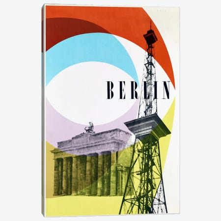 Berlin Canvas Print #VAC825} by Vintage Apple Collection Canvas Wall Art