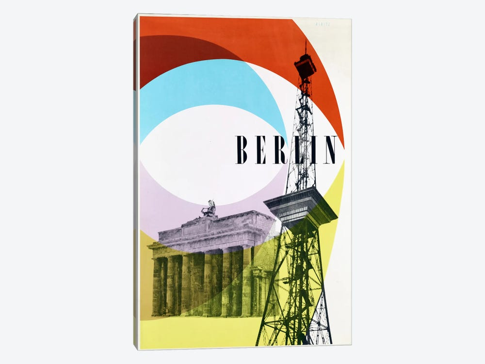 Berlin by Vintage Apple Collection 1-piece Canvas Art