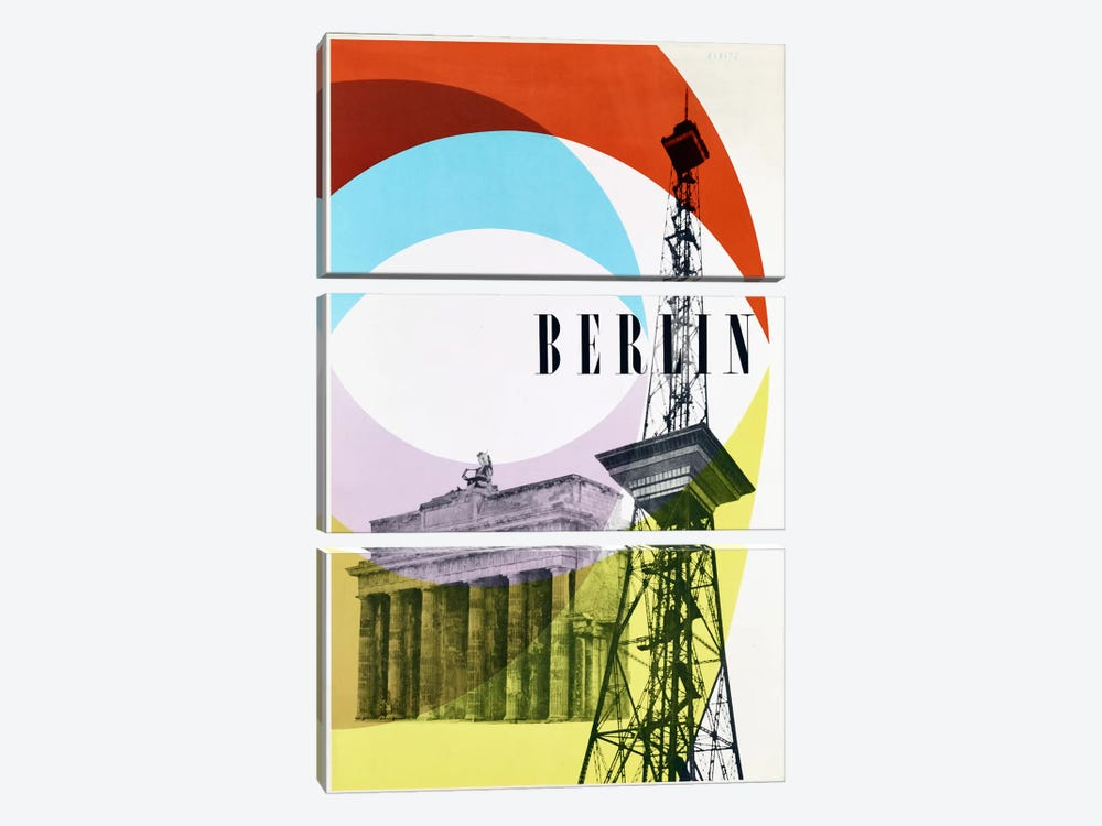 Berlin by Vintage Apple Collection 3-piece Canvas Wall Art