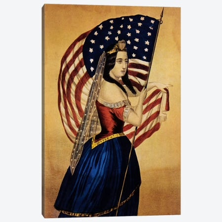 Flag Canvas Print #VAC834} by Vintage Apple Collection Canvas Print