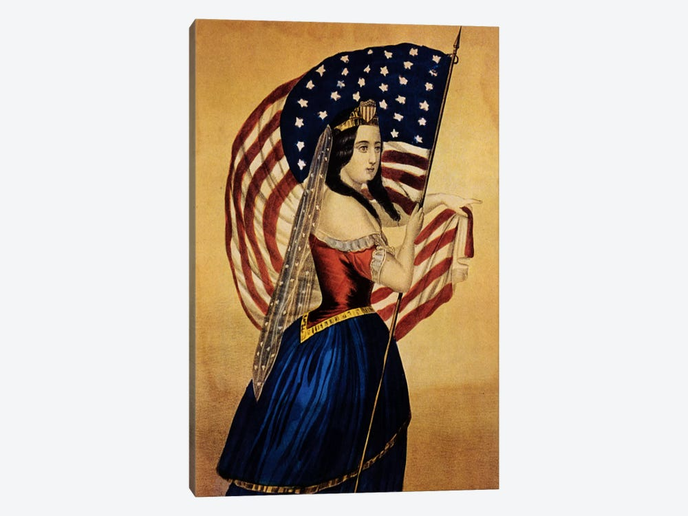 Flag by Vintage Apple Collection 1-piece Canvas Artwork