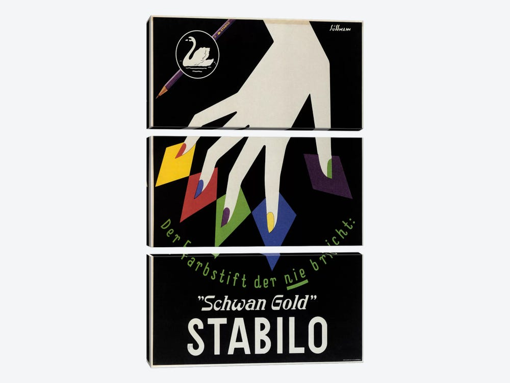 Stabilo by Vintage Apple Collection 3-piece Canvas Wall Art