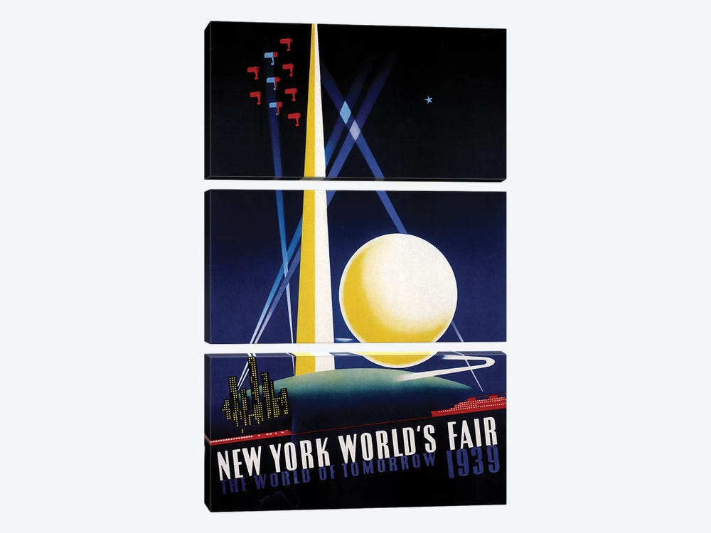 Worlds Fair by Vintage Apple Collection 3-piece Art Print
