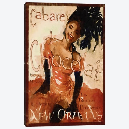 Cabaret Chocolate Canvas Print #VAC875} by Vintage Apple Collection Canvas Print