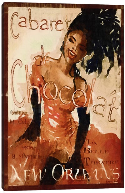 Cabaret Chocolate Canvas Art Print