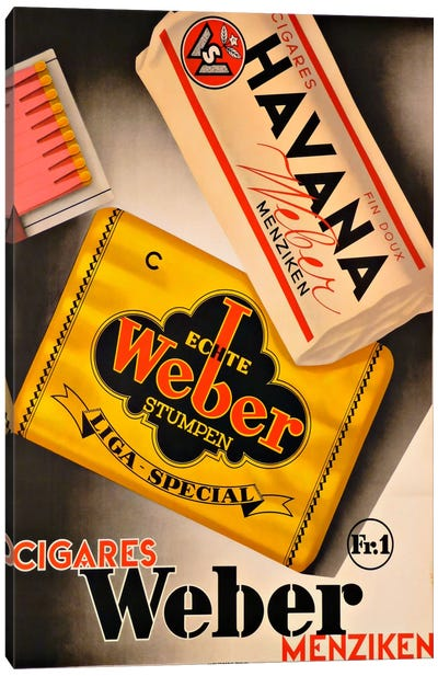 Cigares Weber Canvas Print #VAC881