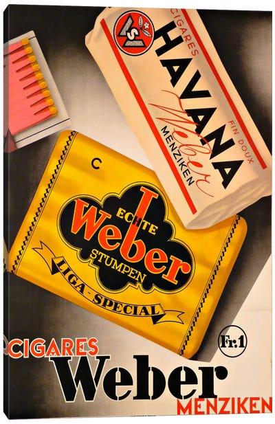 Cigares Weber Canvas Print #VAC881