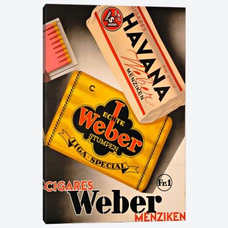 Cigares Weber Canvas Print #VAC881} by Vintage Apple Collection Canvas Art Print