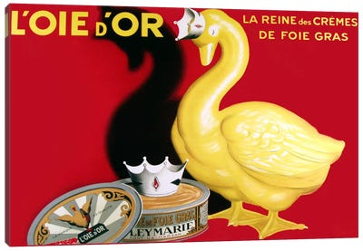 Loie D Or La Reine Des Cremes Canvas Art Print