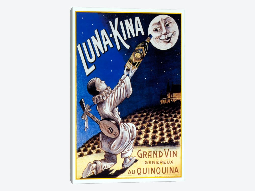 Lunakina by Vintage Apple Collection 1-piece Canvas Artwork