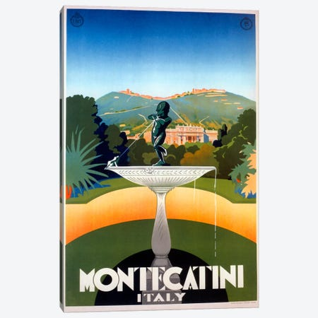 Montecatini Canvas Print #VAC921} by Vintage Apple Collection Canvas Wall Art