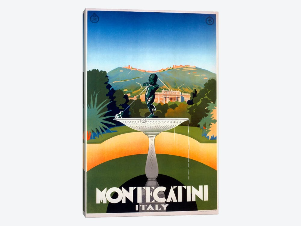 Montecatini by Vintage Apple Collection 1-piece Art Print