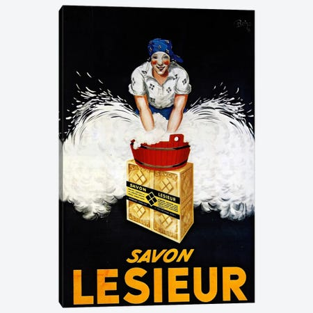 Savon Lesieur Canvas Print #VAC945} by Vintage Apple Collection Art Print
