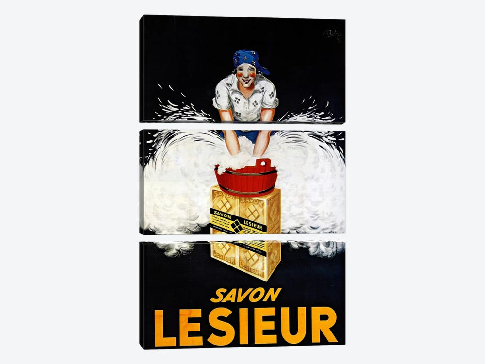 Savon Lesieur by Vintage Apple Collection 3-piece Canvas Print