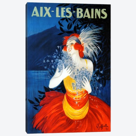 Aix Les Bains Canvas Print #VAC966} by Vintage Apple Collection Canvas Print