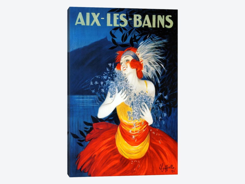Aix Les Bains by Vintage Apple Collection 1-piece Canvas Artwork