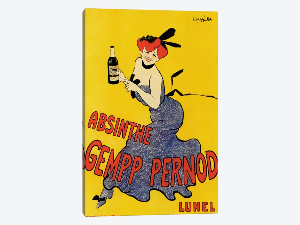 Cappiello Abinsthe Gemp Pernod 1-piece Canvas Artwork