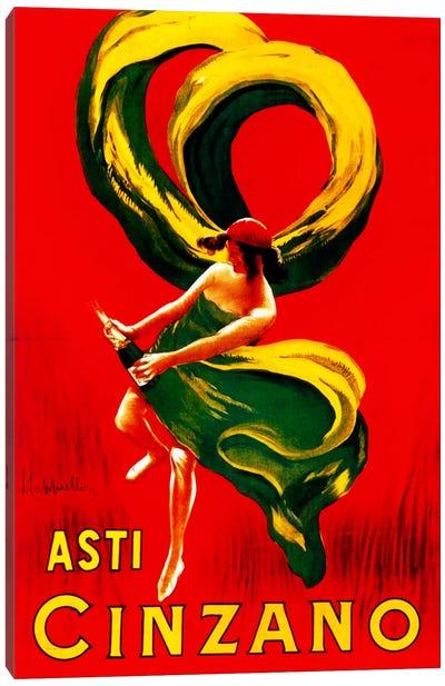 Cappiello Asticinzano Redgreenyellow Canvas Art Print