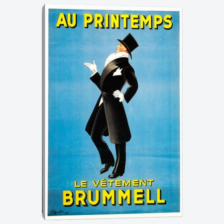 Cappiello Brummel Canvas Print #VAC977} by Vintage Apple Collection Canvas Artwork