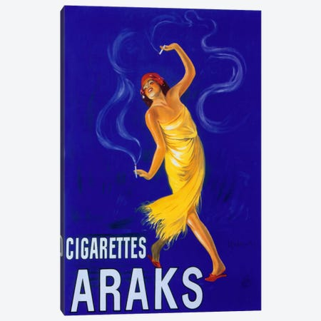 Cappiello Cigarettes Araks Canvas Print #VAC979} by Vintage Apple Collection Canvas Art Print