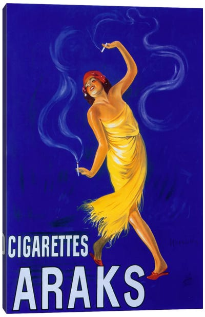 Cappiello Cigarettes Araks Canvas Art Print