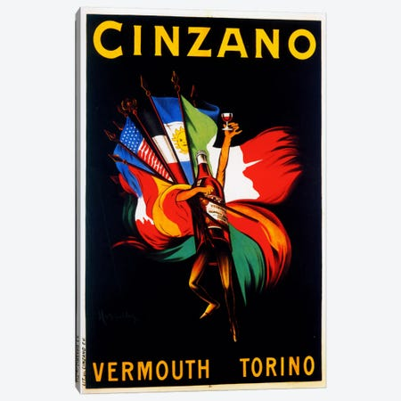 Cappiello Cinzano Vermouth Torino Canvas Print #VAC980} by Vintage Apple Collection Canvas Artwork