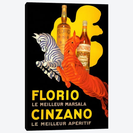 Cappiello Florio Cinzano Canvas Print #VAC985} by Vintage Apple Collection Canvas Print