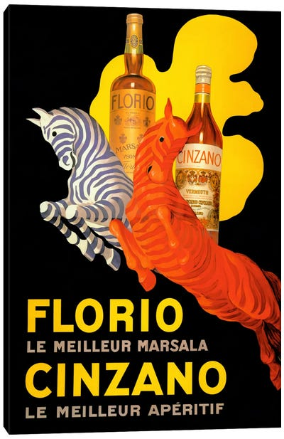 Cappiello Florio Cinzano Canvas Art Print