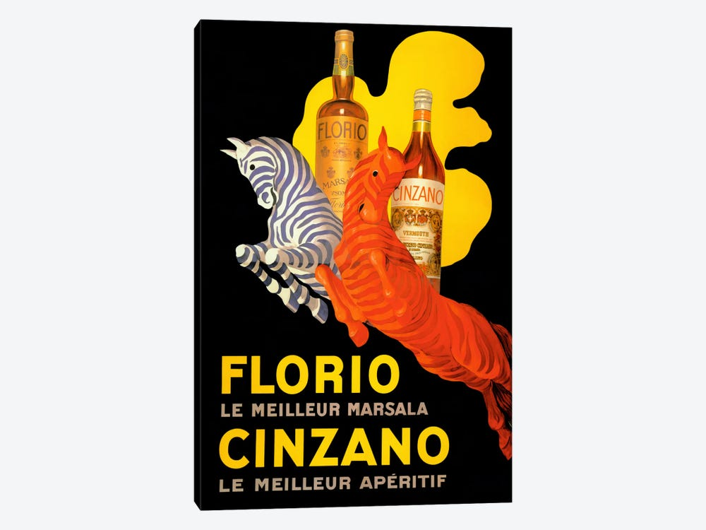 Cappiello Florio Cinzano by Vintage Apple Collection 1-piece Canvas Print