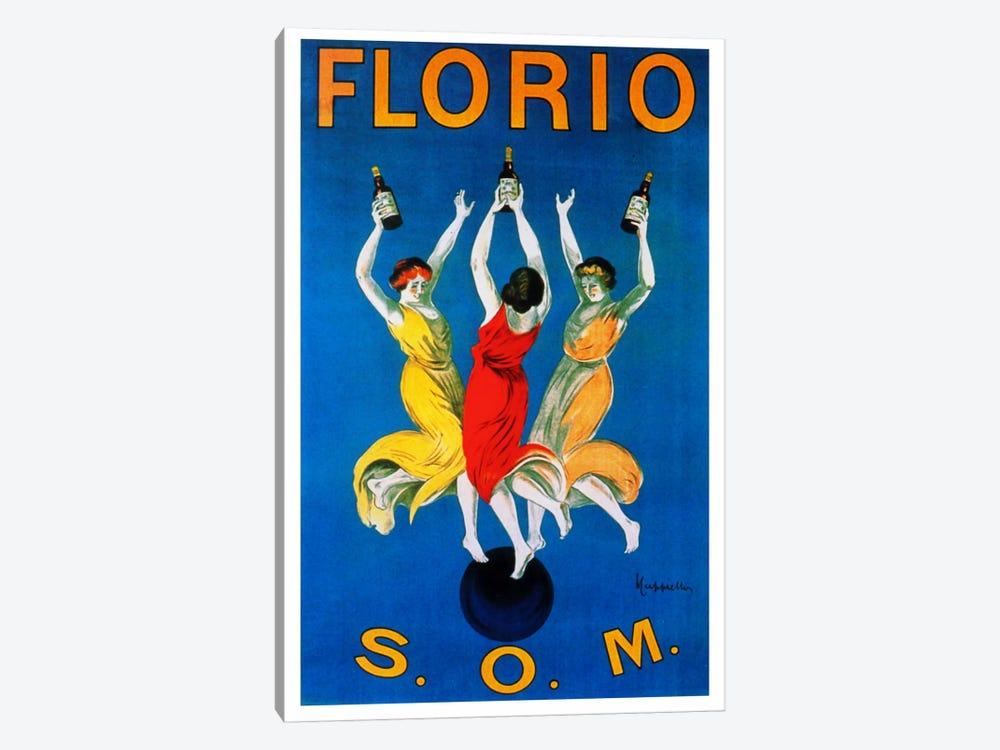 Cappiello Florio Som by Vintage Apple Collection 1-piece Canvas Wall Art