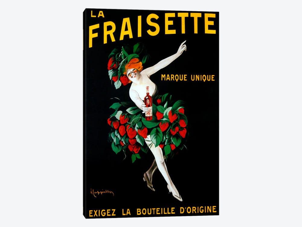 Cappiello Fraisette by Vintage Apple Collection 1-piece Canvas Print