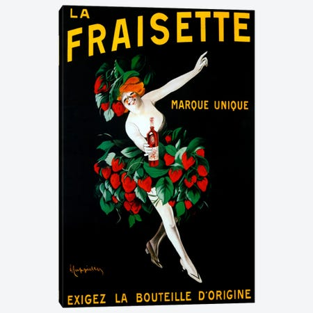 Cappiello Fraisette Canvas Print #VAC987} by Vintage Apple Collection Canvas Art Print