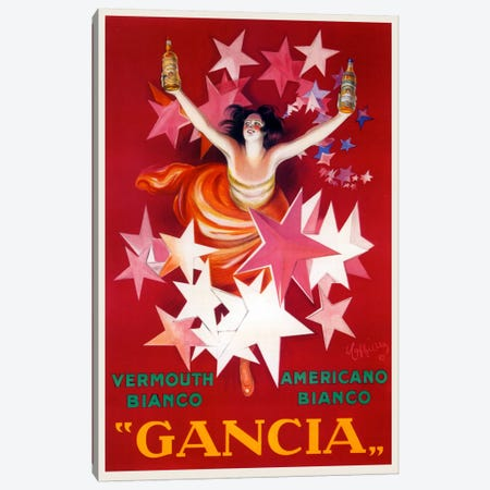 Cappiello Gancia Canvas Print #VAC988} by Vintage Apple Collection Canvas Art