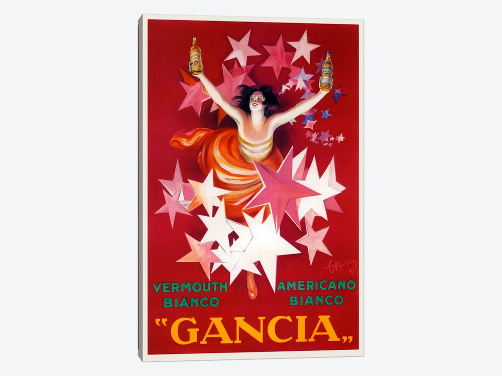 Cappiello Gancia by Vintage Apple Collection 1-piece Canvas Wall Art