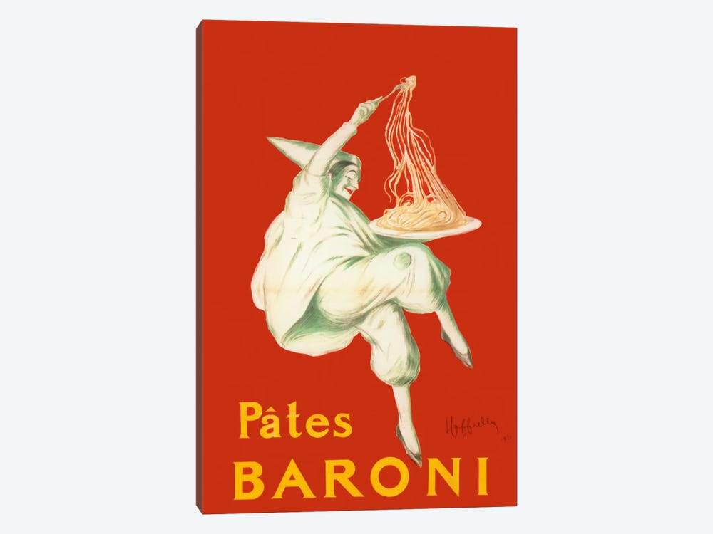 Cappiello Pates Baroni by Vintage Apple Collection 1-piece Canvas Print