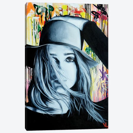Hat Face Canvas Print #VAE10} by Val Escoubet Canvas Artwork