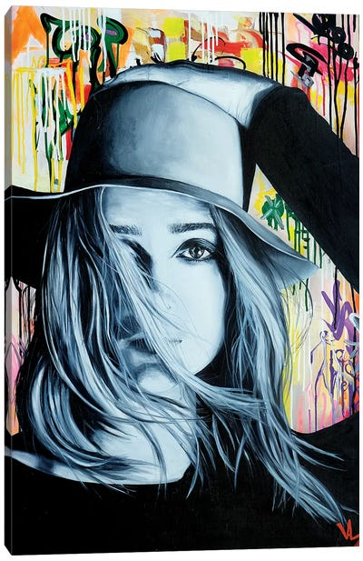Hat Face Canvas Art Print