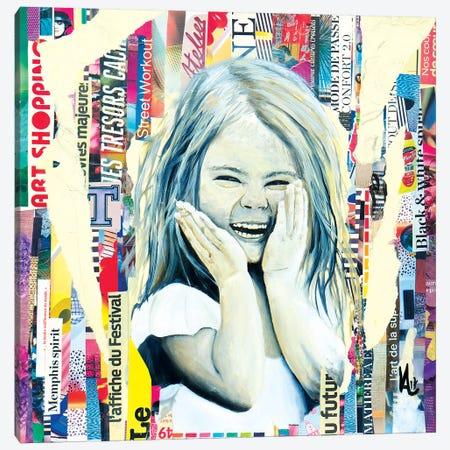 The Mischievous Little Girl Canvas Print #VAE22} by Val Escoubet Canvas Art Print